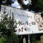 森の木いちご畑cafe(看板)